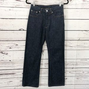Helmut Lang Button Fly Straight Leg Jeans